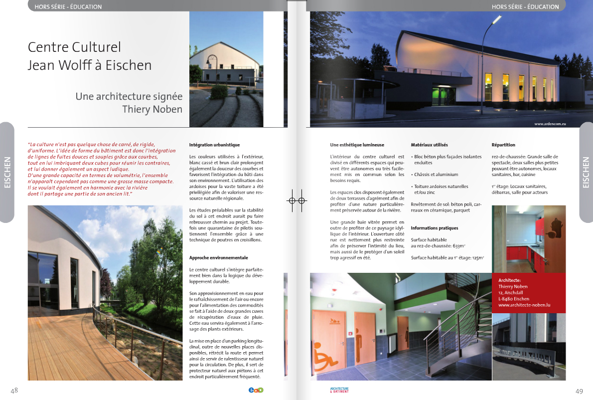 Architecte Thierry Noben Magazine Architecture & Bâtement