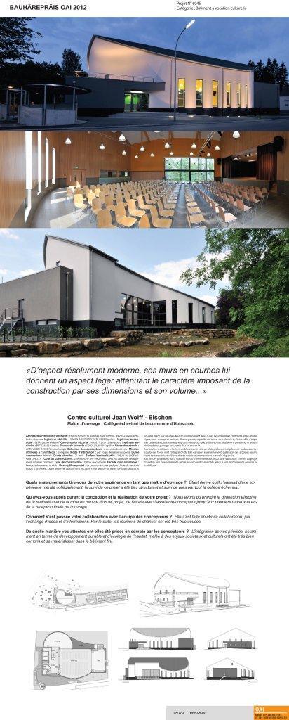 Centre Culturel Um Denn architecte thierry noben Eischen Luxembourg